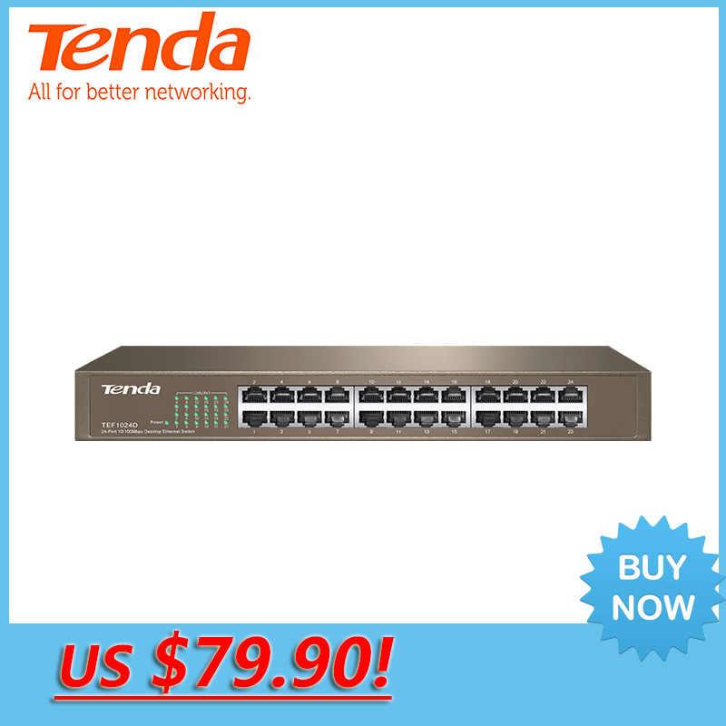 Tenda TEG1024D 24 puertos Gigabit Ethernet de 10/100/1000 Mbps Ethernet de red Auto MDI/MDIX