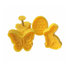 цена на TTLIFE 4Pcs Easter Bunny Plastic Cookie Cutter Sugarcraft Plunger Baking Mold Biscuit Mould Pastry Fondant Cake Decorating Tools