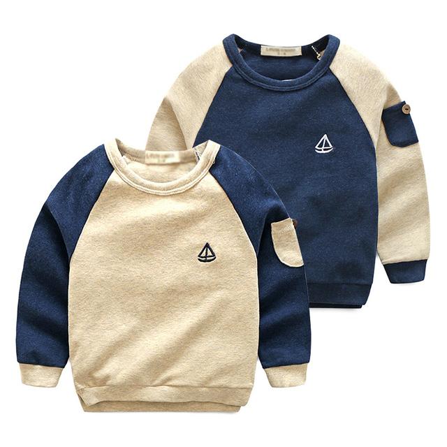 El bebé suéter bordado primavera 2017 versión Coreana de los nuevos niños del muchacho de color puente wt-7513