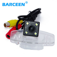Plastic Shell Material Rainproof Car Rear Reversing Camera Bring 4 Led Hd Ccd Night Vision Parking