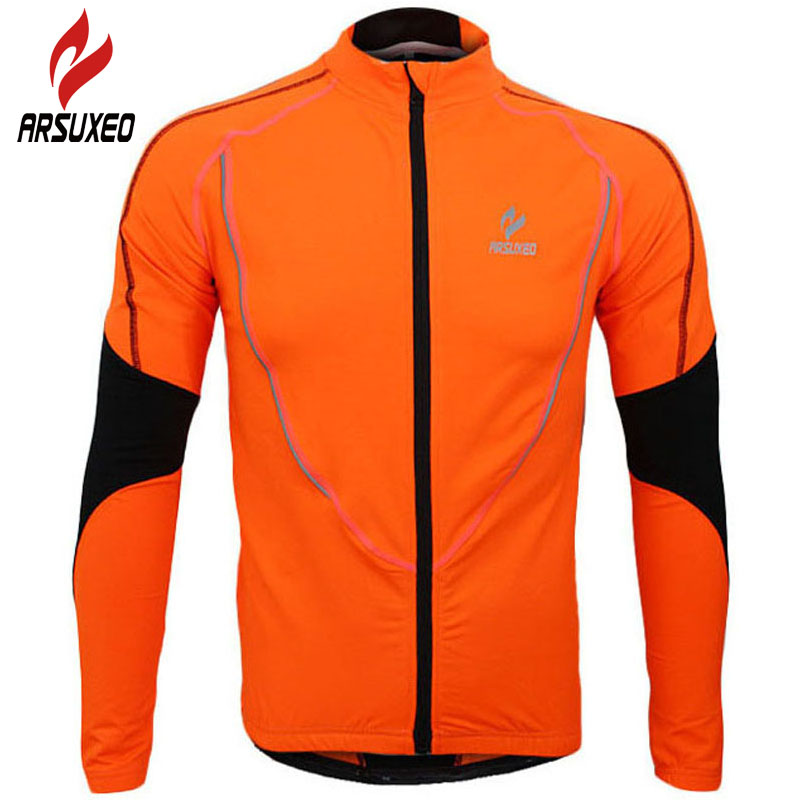 ARSUXEO Cycling Jacket 2017 Men MTB Bike Bicycle Motocross Downhill Jackets Jersey Clothing Coat Maillot Ciclismo