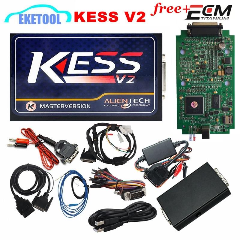 Prix pour Dernière V2.32 KESS OBD2 Gestionnaire KESS V2 Auto ECU Chip Tuning Programmeur Matériel V4.036 Non Jetons Limitée Maître Version DHL rapide