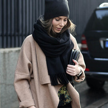Зимний шарф для женщин 2016 мода платки кашемировый Шарф sjaal твердые Женщины толстые шарфы индии Кашемир Кисточкой шаль(China (Mainland))