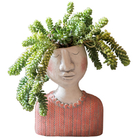 Art Figure Flower Pot Poet Garden Bonsai Planter Garden Pots Hand Crafts Succulent Plant Home Desktop Decor R983