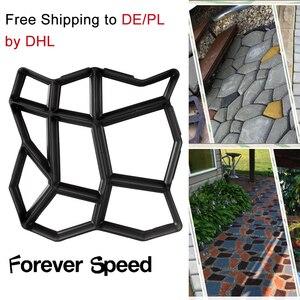Image 3 - 3 sztuk kostki brukowej formy chodnikowe betonowe formy z tworzywa sztucznego ścieżki Patio cementu DIY nawierzchni plastikowa forma posadzka ogrodowa drogi krokowy