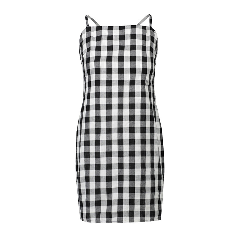 3771bd30e14 Sexy Beach Strapless Bowknot Plaid Gingham Summer Women Dress Sundress Slip  Female Strap Party Mini dresses Brand BUDDLEJA-in Dresses from Women s  Clothing ...