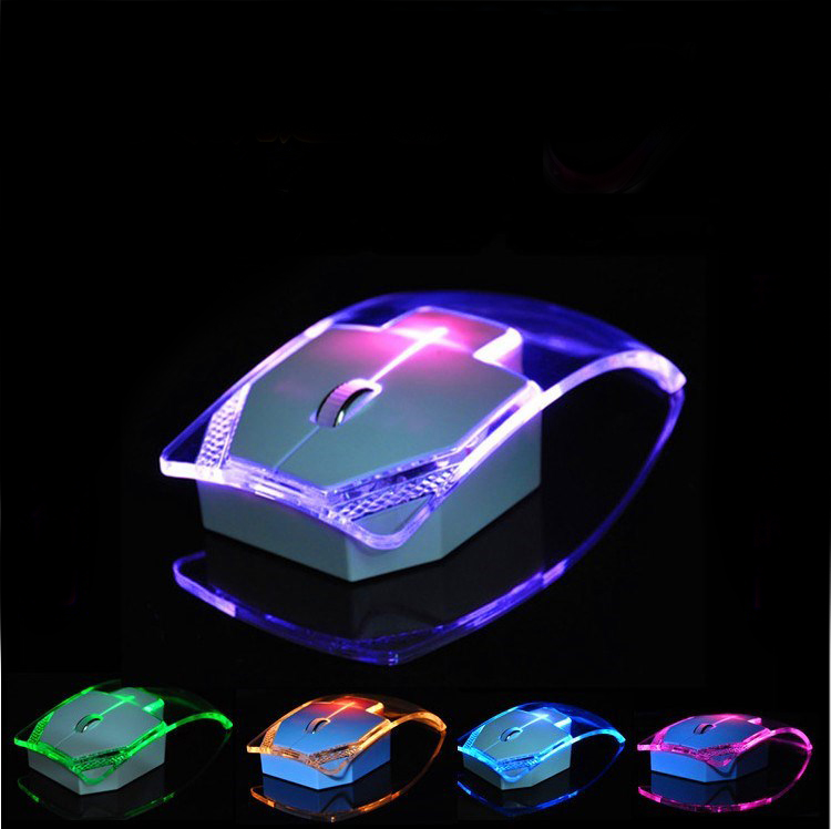 Newest Luminous Colorful Lights 2 4g Wireless Mouse Ultra