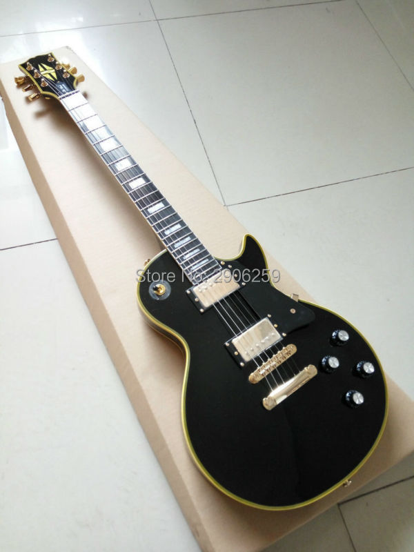 Custom Exclusive lp Custom electric guitar aged binding gold hardware 60s version black lp guitar high quality free shipping free shipping 2015 high quality electric guitar billy guitar pearly gates signature lp guitar 151101