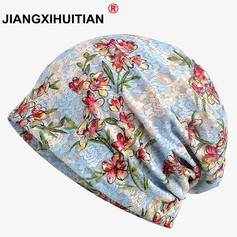 2018 New Thin Lady Lace   Skullies   Female Summer Cap Turban Hats Floral   Beanies   Pregnant Mother Cap Gift For Women