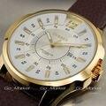 Famosa Marca CURREN Moda Couro Strap Relógios Homens Casuais relógio de Quartzo Relógio Calendário Data Work For Men Vestido Relógio de Pulso preto