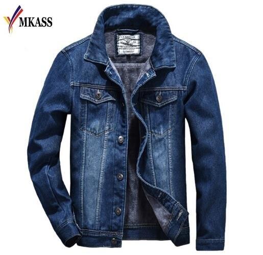 07fd8a8fb58 High Quality Designed New Winter Warm Fleece Jacket Coat Men Denim Jacket  Casual Jeans Jacket Plus