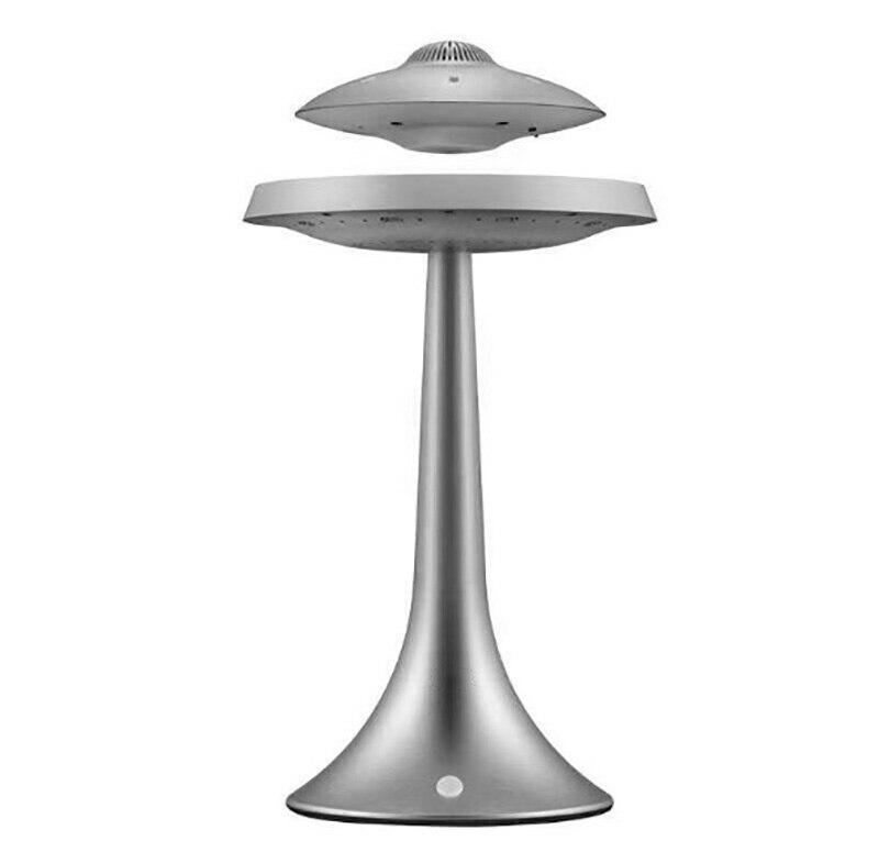 Смарт Bluetooth колонки бас стерео Магнитная подвеска НЛО Стиль Дизайн семь цветов светодиодный водонепроницаемый беспроводной зарядки - Цвет: gray