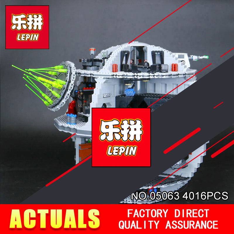 LEPIN 05063 05035 STAR Classic Model Building Blocks 4016pcs Death UCS Star Building Block Bricks Toys Kits Compatible WARS dhl lepin 05063 4016pcs star plan series wars death star building block bricks toys kits compatible legoing 75159 christmas gift