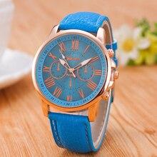 Loadr модные брендовые женские часы кварцевые аналоговый циферблат кожаный ремешок Женева наручные часы платье леди фестиваль подарок часы Relogio