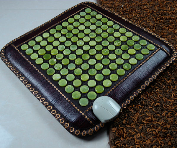 Jade Germanium Health Care Tourmaline Heated Massage Physiotherapy Electric Heating Mat Nice Bottom Pad 45*45cm Free Shipping best selling korea natural jade heated cushion tourmaline health care germanium electric heating cushion physical therapy mat