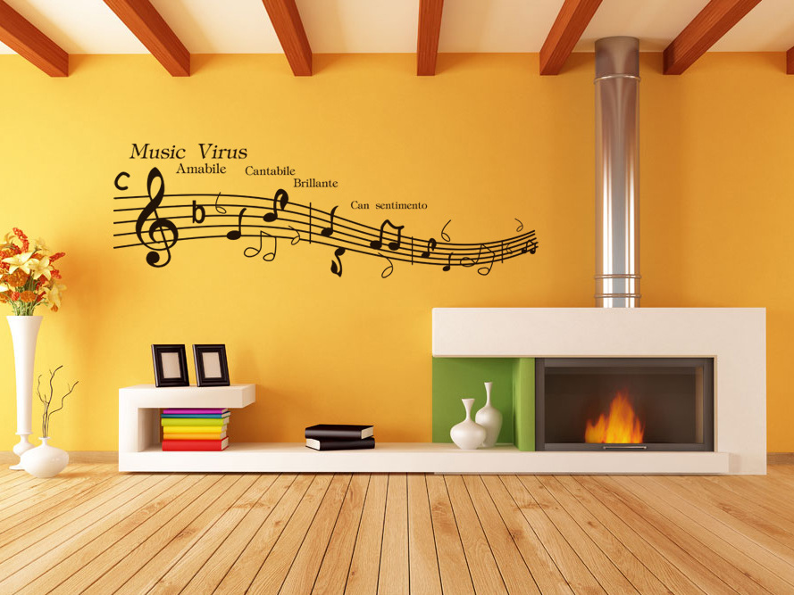Contemporary Music Wall Art Stickers Crest - Art & Wall Decor ...