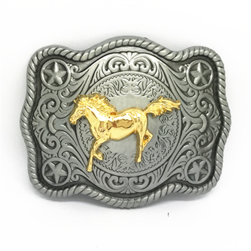 Western Cowboy Belt Buckles The Cross Kaille And The High - Grade High - Grade Women And Women's Smooth Button For 3.8CM Belts