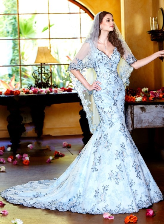 Popular Light Blue Mermaid Wedding Dress-Buy Cheap Light Blue ...