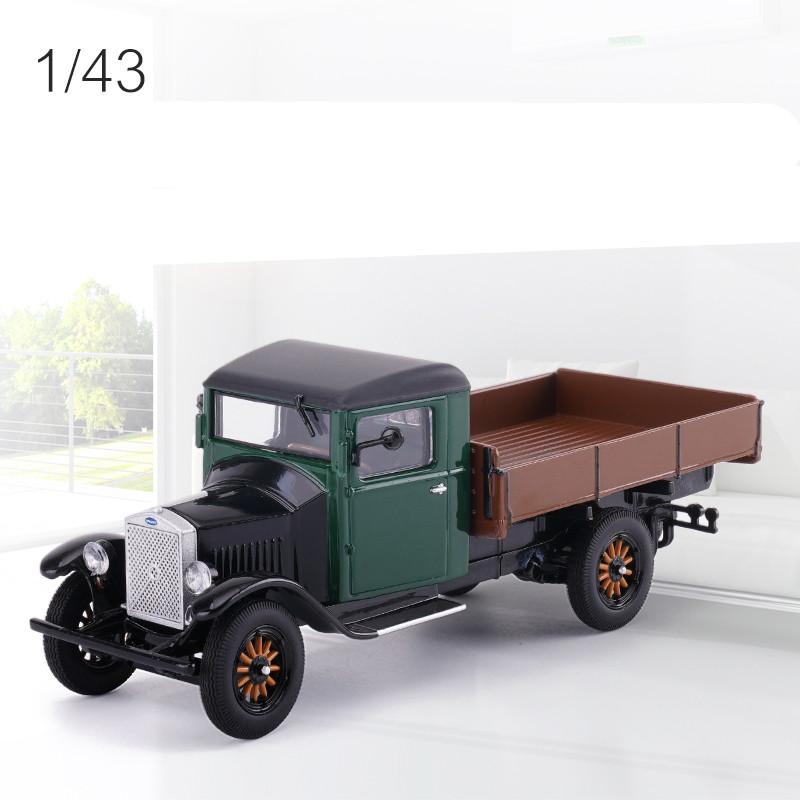 Original 1:43 scale alloy racing model,high simulation Volvo pickup truck LV40 classic car,Gift box packaging toy car model