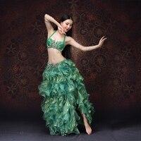 NEW High Grade Women Dancewear Bellydance Clothes Professional Outfit 2pcs Bra And Skirt Oriental Belly Dance