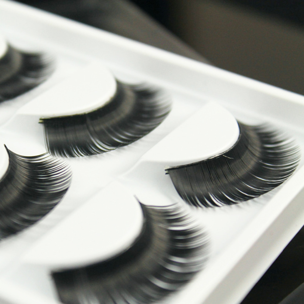 New False eyelashes Professional thick fake lashes nude makeup eyelashes extentions 5pairs per pack with model show