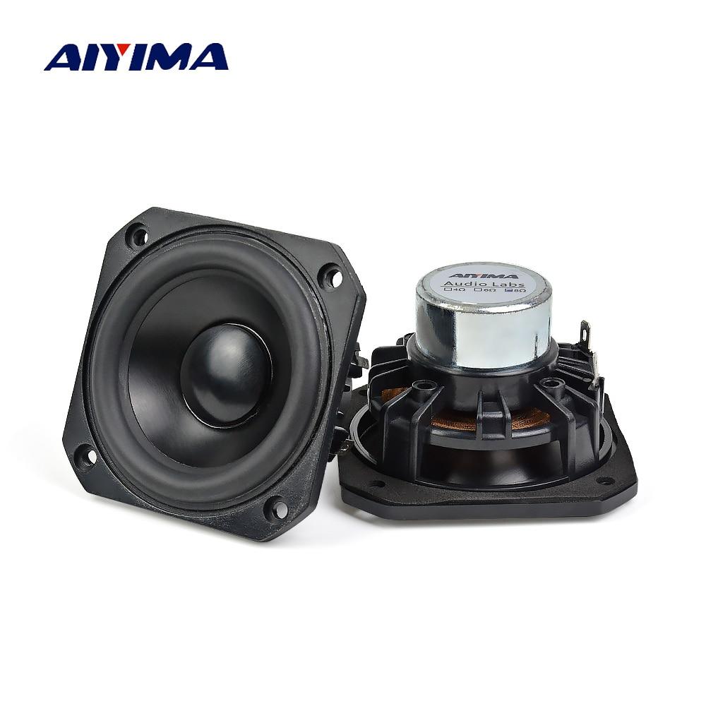 AIYIMA 2Pcs 3Inch Audio Portable Full Range Speakers Altavoces 4 Ohm 25W Hifi Speaker Altavoz DIY