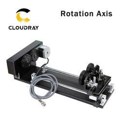 Вращающаяся гравировальная насадка Cloudray с роликами, шаговые двигатели для лазерной гравировки, модель А