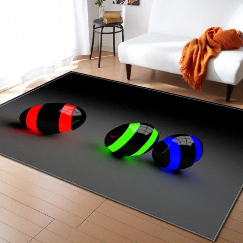 LIU tapis grand salon 3D personnalité Simple moderne nordique tapis chambre tapis Table à thé rectangulaire tapis de sol mode doux - 6