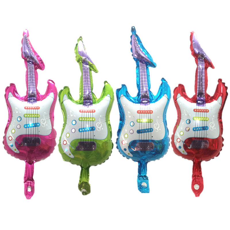Home & Garden Rational Bingtian Small Guitar Balloon Inflatable Foil Child Classic Toy Birthday Party Wedding Decoration Balloons Modern Techniques