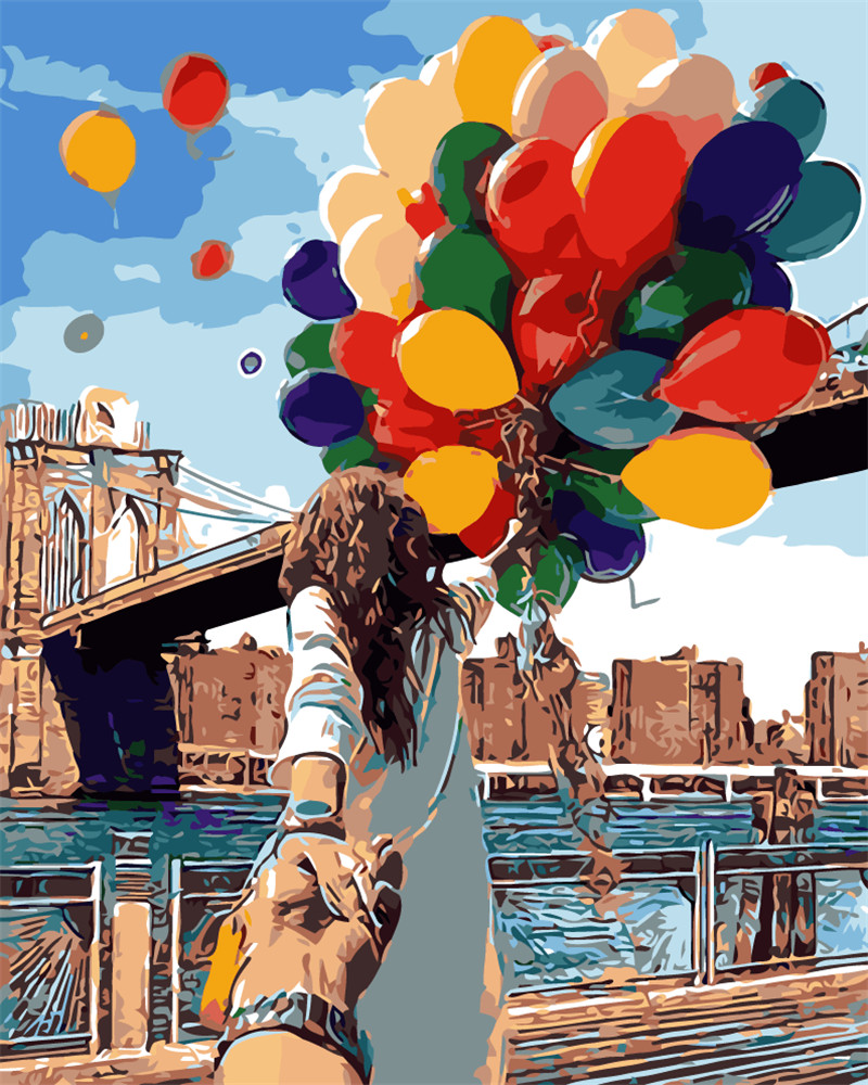 Ev Ve Bahce Ten Resim Ve Hat De Hq El El Ask Ucan Balon Boyama By
