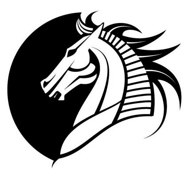 16815cm Creative Tribal Horse Head Symbol Car Sticker Individual