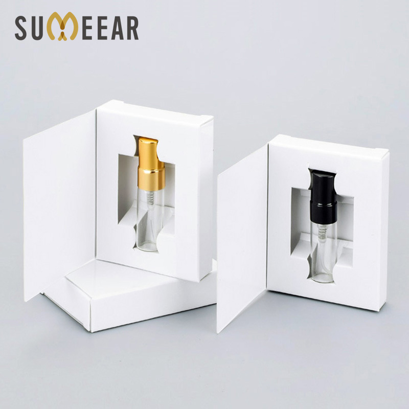 Wholesale 100 Pieces/Lot 3ML Customizable Paper Boxes And Glass Perfume Bottle With Atomizer&empty Parfum Packaging Custom