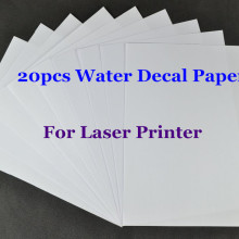 20 шт./лот) A4 прозрачная/прозрачная бумага водная горка переводная бумага Лазерная Водная переводная бумага для стекла водная горка переводная бумага