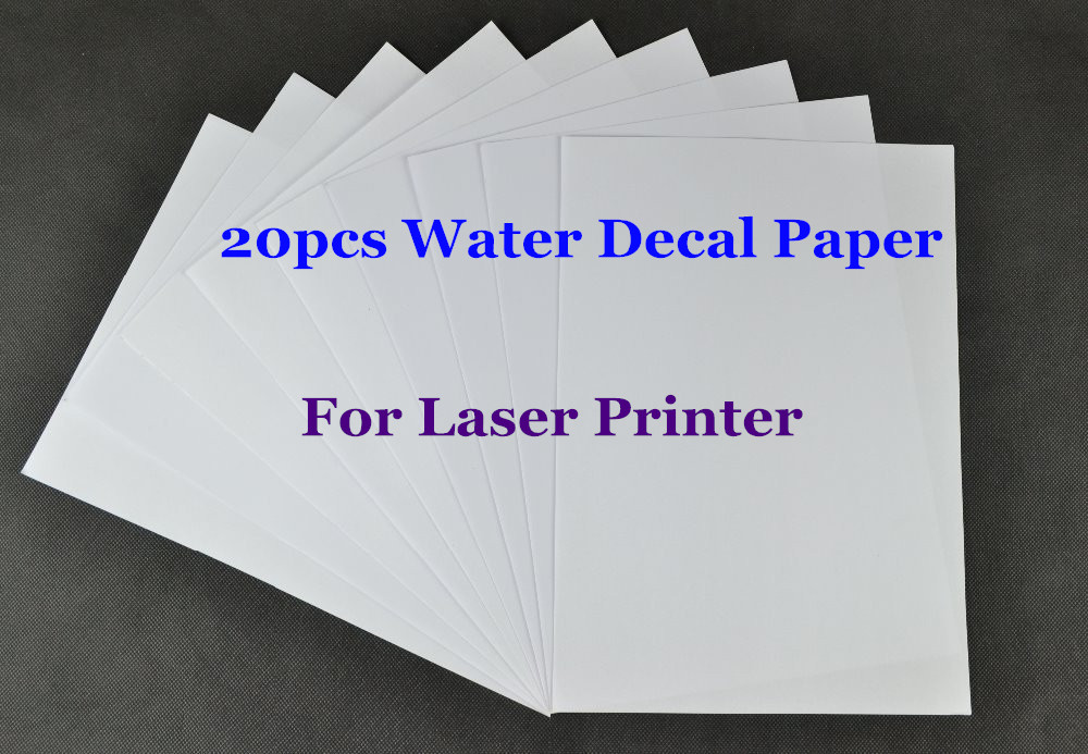 US $12 48 30% OFF|(20pcs/lot) A4 Clear/Transparent Paper Water Slide Decal  Paper Laser Water Transfer Paper For Glass Waterslide Decal Paper-in
