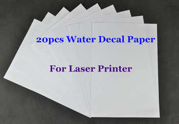 (20pcs/lot) A4 Clear/Transparent Paper Water Slide Decal Paper Laser Water Transfer Paper For Glass Waterslide Decal Paper - DISCOUNT ITEM  28 OFF Education & Office Supplies