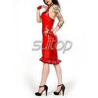latex black Apron Dress lolita garment