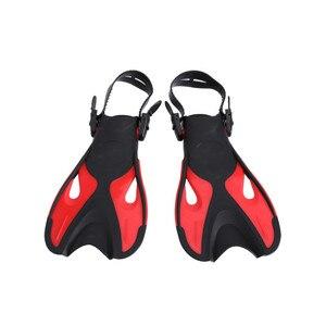 Image 2 - 2018 Nieuwe Verstelbare Kinderen Kids Super Zachte Comfortabele Snorkelen Zwemmen Vinnen Lange Flippers Duiken Trainingsapparatuur Een
