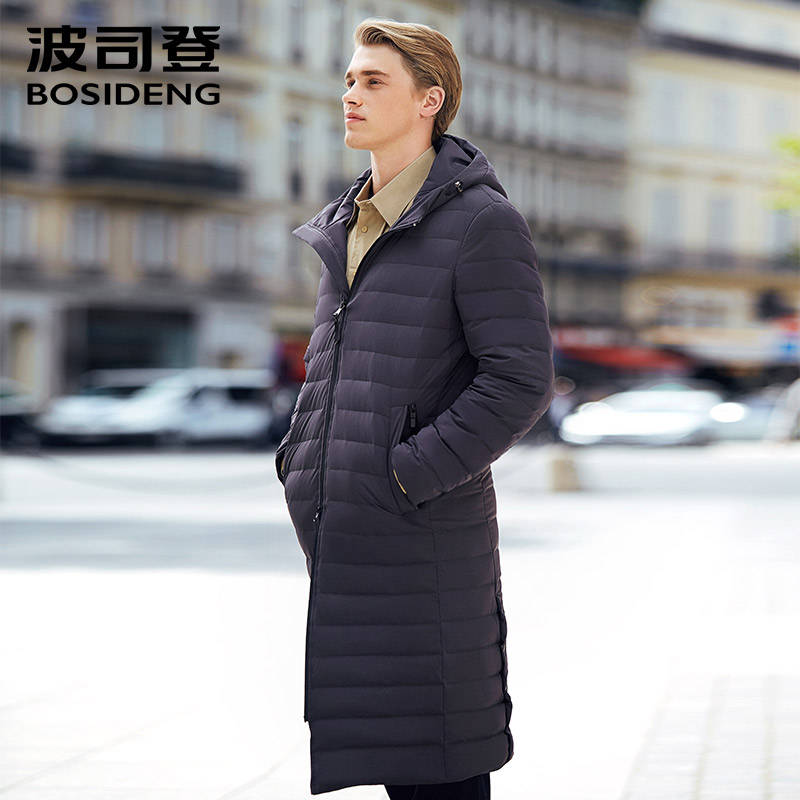 BOSIDENG Long down coat early winter Spring down parka smart business hoodie X-long DOWN JACKET HIGH quality B70133019