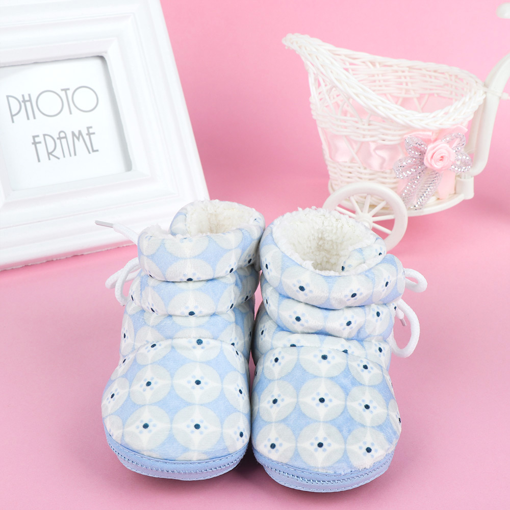 Infant Baby Warmth Winter Shoes Cotton Coins Pattern Snowshoes Winter Warm Boots Delicate High Quality
