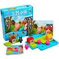 Smart Hide & Seek настольные игры три маленькие Piggies 48 вызов с решением игры IQ Обучение детей развивающие игрушки