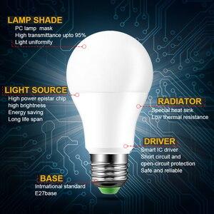 Image 3 - 110 فولت 220 فولت E27 Led لمبات RGB lambadas Led مصباح للمنزل 5050SMD أمبولة مصباح ليد لمبة 24 مفاتيح IR التحكم عن بعد 5 واط/10 واط/15 واط