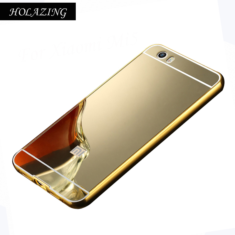 2 в 1 съемная металлический Алюминий бампер Рамки для Xiaomi mi5c с зеркала тонкий жесткий Coque принципиально capinha