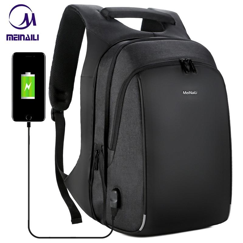 Mens Business Backpacks Multifunction USB Charging 15.6 Inch Laptop Bag Large Capacity Waterproof Travel Mochila For Men