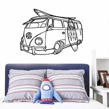 Cartoon bus Vinyl Wallpaper Roll Furniture Decorative Kids Room Nature Decor Wall Stickers Waterproof