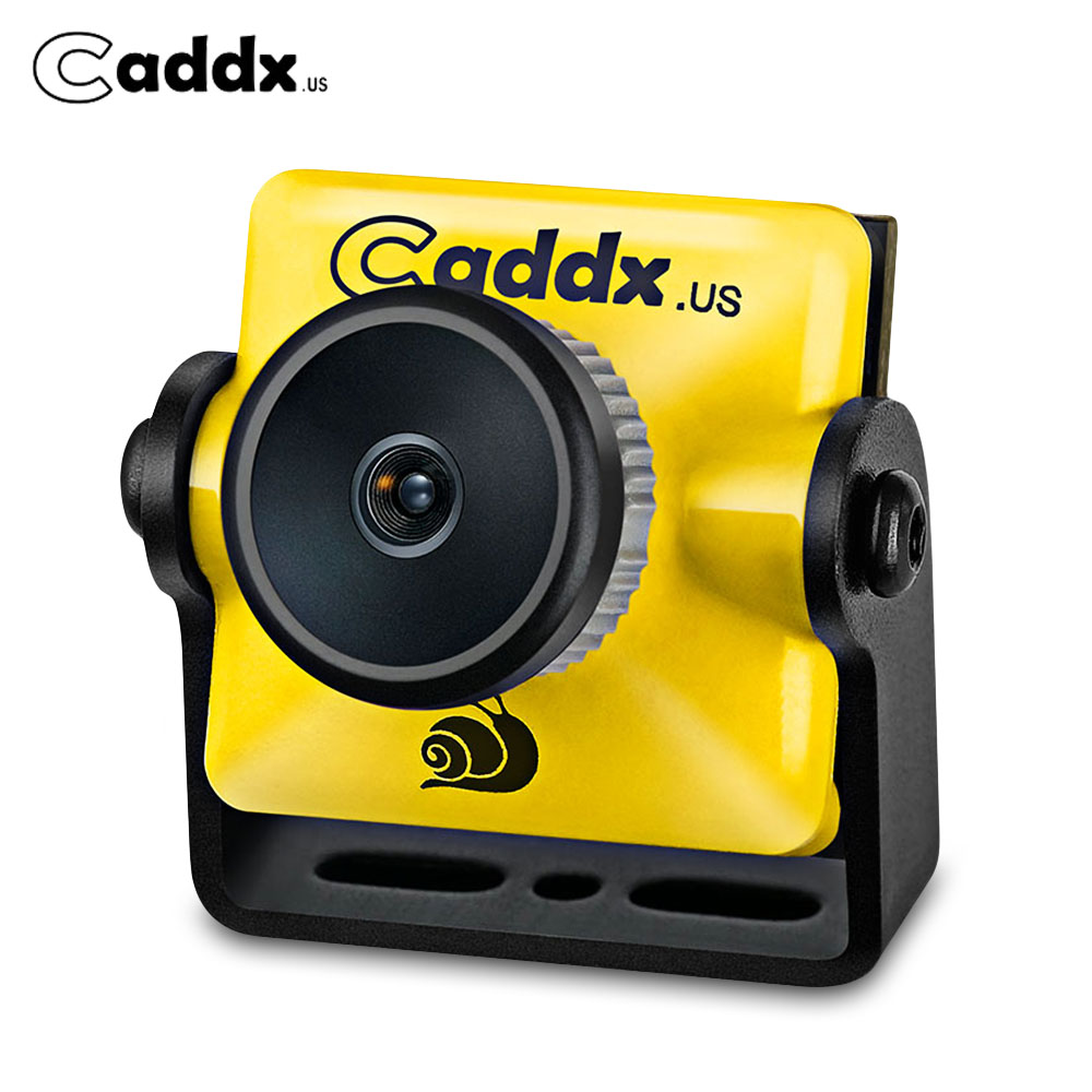 CADDX Turbo Micro S1 CAM 1/3 Inch Fourth Generation CCD Low Latency FPV Camera Shooting Clearer Pictures For RC Drone Yellow caddx turbo micro f2 1 3 cmos 2 1mm 1200tvl 16 9 4 3 ntsc pal low latency mini fpv camera for rc models upgrade caddx f1 4 5g