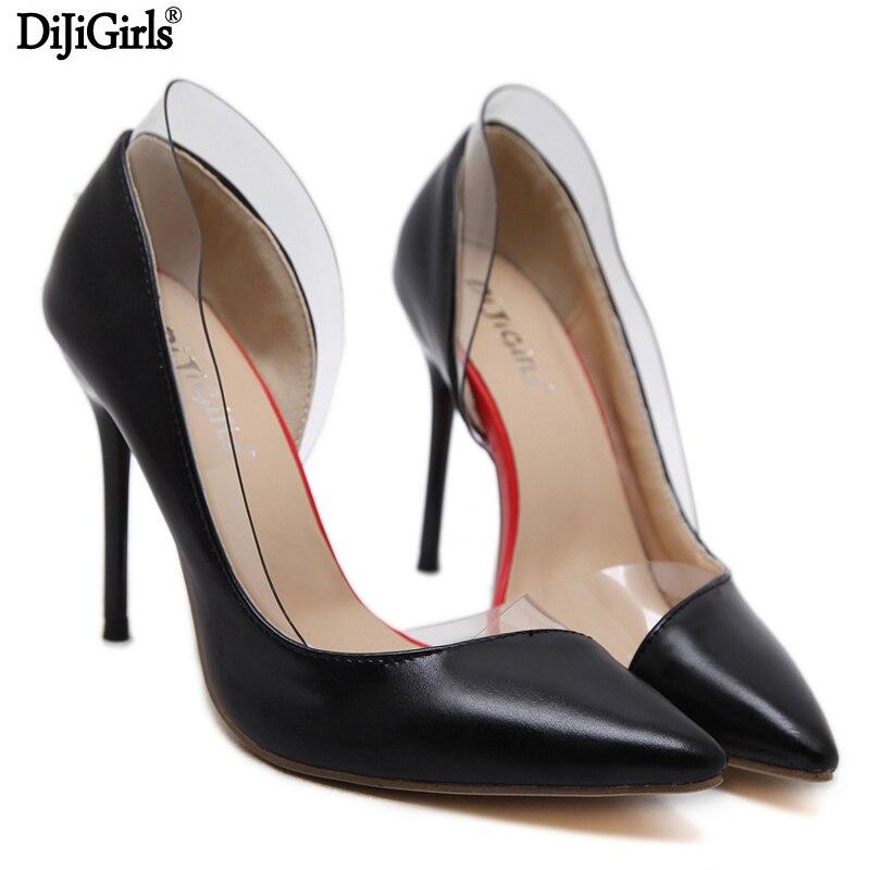 Ladies Shoes Black Pumps Fashion Pointed Toe Mature High Heels Pu Leather Shoes Women Pumps -2278