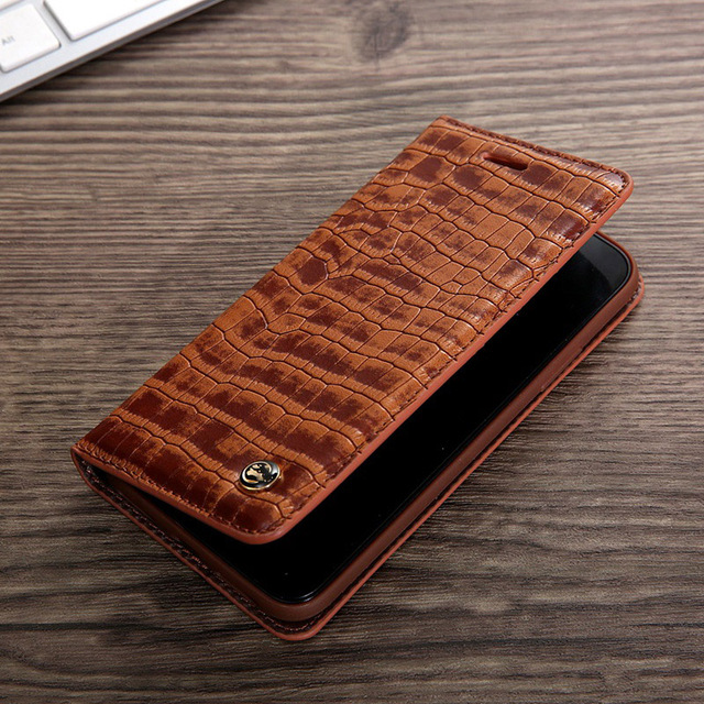 separation shoes a737a 54395 US $9.98 |Luxury For Apple iphone 8 Case Flip Leather Crocodile Pattern For  iphone X Case Wallet Coffee Card Pocket 8 Plus Phone Cover-in Flip Cases ...