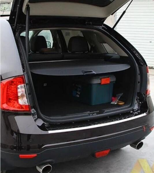 Car Rear Trunk Security Shield Shade Cargo Cover For Ford EDGE 2009 2010 2011 2012 2013 2014 2015 (Black, beige) car auto accessories rear trunk trim tail door trim for subaru xv 2009 2010 2011 2012 2013 2014 abs chrome 1pc per set