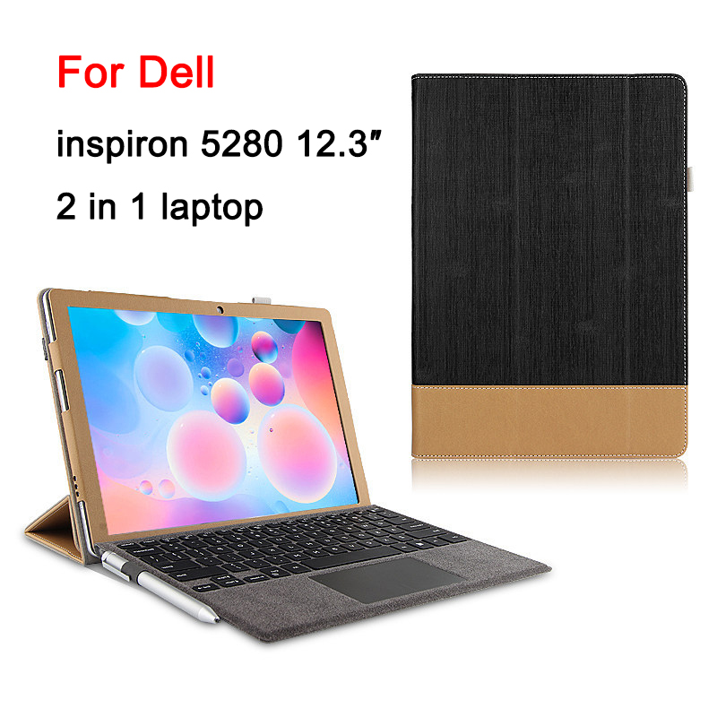 Premium PU Leather Case for Dell Inspiron 5280 12.3 inch 2 in 1 Tablet Stand Cov