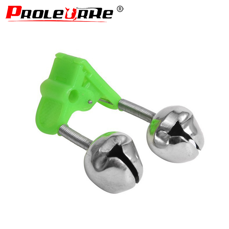 5pcs/lot Sea Fishing Feeder Sensitive Fishing Bell Twin Rod Tip Fish Bell Alarm Fishing Tackle Accessories Size 50mm 8g
